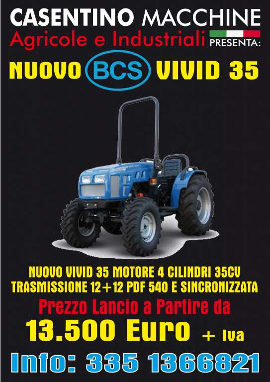 trattore bcs vivd 35 offerta - Trattori Usati Landini, FIAT, Lamboghini in Toscana